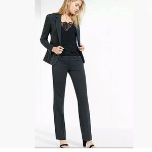 EXPRESS DESIGN STUDIO CHARCOAL GRAY FITTED BLAZER
